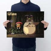 Картинка товара My Neighbor Totoro Placard Home Retro Kraft постер аниме принт-958503217 превью