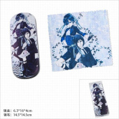 Картинка товара Kuroshitsuji Black Butler Glasses Case and Glasses Cloth Set-958489082 превью