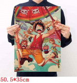 Картинка товара One Piece Placard Home Retro Kraft постер аниме принт-958503230 превью