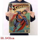 Картинка товара Superman Placard Home Retro Kraft постер аниме принт-958503253 превью