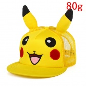 Картинка товара Pokemon Pikachu With Ear Kawaii желтый Hat Hip Hop Reseau Baseball кепка (260399) превью