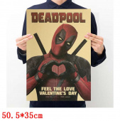 Картинка товара Deadpool Placard Home Retro Kraft постер аниме принт-958503270 превью