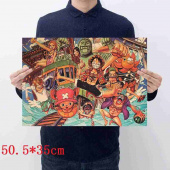 Картинка товара One Piece Printing Placard Home Retro Kraft постер аниме принт-958503154 превью