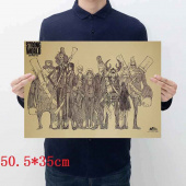 Картинка товара One Piece Placard Home Retro Kraft постер аниме принт-958503188 превью